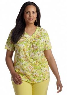 Alfred Dunner  Plus Size Fresh Picked Scenic Printed Tee