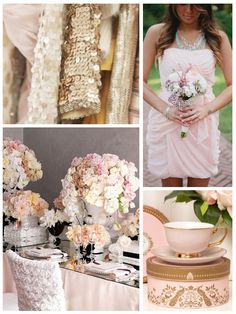Blush, Gold, and Champagne