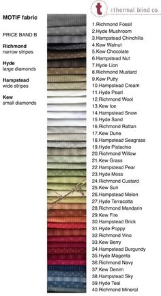 We are excited to launch a new range of fabrics, carefully tested to ensure they work well with our thermal blinds. Thermal Blinds, Band B, Wide Stripes, Roman Blinds, Fabric, Tejido, Tela, Cloths, Roman Shades