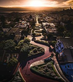 Lombard Street San Francisco California  #sanfrancisco #sf #bayarea #alwayssf #goldengatebridge #goldengate #alcatraz #california