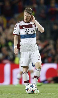 Bastian Schweinsteiger during his 13 season, 500 match stint with Bayern Munich.