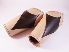 FREE SHIPPING Handmade bracers pair from vegetable by LEATHERELY