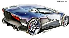 concept car sketch 6 by Rukunov