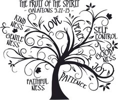 "We could do a cool flag/banner with a fun ""tree of life"" bearing ""fruits of the spirit"""