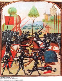 """On this day 14th April in 1471 took place, in """"The Wars of the Roses"""", the Battle of Barnet, between Yorkists under Edward IV and Lancastrians under Henry VI, with the Yorkists winning. During """"The Wars of th…cont...."""