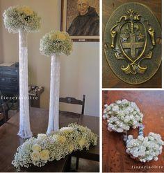 Fioreria Oltre/ Wedding ceremony/ Baby's breath, roses  https://it.pinterest.com/fioreriaoltre/fioreria-oltre-wedding-ceremonies/