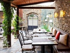 5 Best Day Trips from Barcelona - Condé Nast Traveler Cool Places To Visit, Places To Go, Costa, Colonial Mansion, Barcelona Restaurants, Shady Tree, Country Hotel, Romanesque, Restaurant Bar