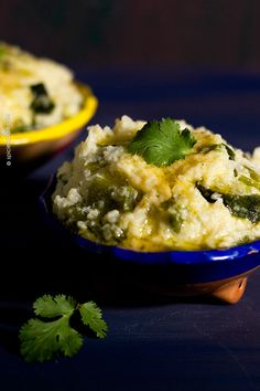 Mashed Cauliflower with Charred Green Chilies | #lowcarb #vegetarian #cauliflower #chilies