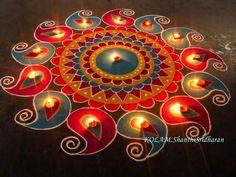 Abstract Rangoli / Kolam