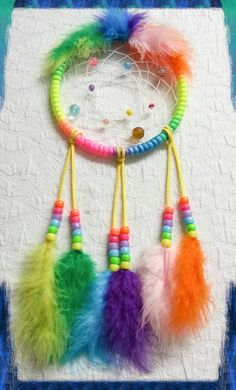 Check out this item in my Etsy shop https://www.etsy.com/listing/221389952/rainbow-wild-colors-dream-catcher