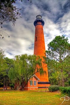 Currituck Beach Lighthouse in Corolla, North Carolina http://www.outerbanksvacations.com/