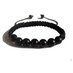 ZENstore Black Tourmaline Shamballa Bracelet 14-17 cm Unisex,... ($40) ❤ liked on Polyvore featuring jewelry, bracelets, gemstone jewelry, tourmaline jewelry, shamballa jewels, gemstone jewellery and gem jewelry