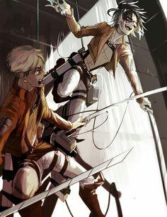 Hanji and Erwin || Attack on Titan