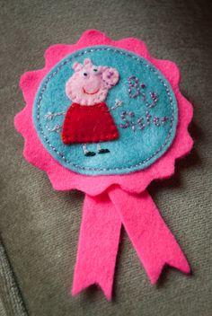 Alexandra's Wishes: Big Sister Peppa Pig felt rosette