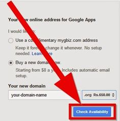 Buy a Domain Name through Google has many benefits,free access to other Google Apps, and the option to keep your contact information private from users who want to learn more about you as the domain owner: including the option to auto-renew your domain annually. Google itself does not currently host domain names, but has partnered with Multiple Domain Registrars to give you the ability to buy a domain through Google