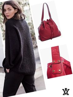 Italian leather handbags  Code: LIA red shoponline➡️www.adelevian.com