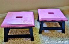 #Upcycled Step Stool #Tutorial @Dinah Wulf {DIY Inspired}