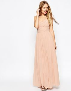 ASOS Wedding ruched panel maxi dress found on Nudevotion