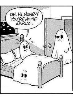 #funny ... lol!  :-)  #Ghost humor. www.DebBixler.com funni stuff, laugh, giggl, ghosts, humor, homes, earli, thing, halloween