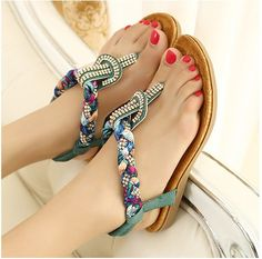 design sandal, flat women, roman flat, flower rhineston, sandals, bohemian style, shoe, little flowers, rhineston roman