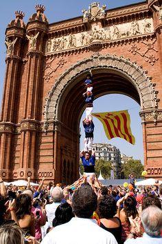 Catalan Diada | Arc de Triomf, Barcelona