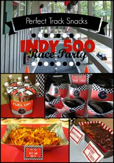 Who's headed to the race? The Indianapolis 500 is a great reason to throw a party this Memorial Day weekend. These party tips offer you snack ideas that are great at the track, or your own backyard.