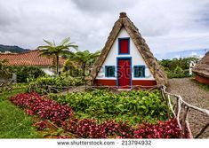 Traditional cottage in Santana Madeira, Portugal
