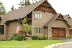 RusticSeries Fiber Cement lap siding that looks like wood allura Log Cabin Siding, House Siding, Log Cabin Homes, Exterior Siding, Exterior Houses, Exterior Colors, Outdoor Paint Colors, Engineered Wood Siding, Front Porch Remodel