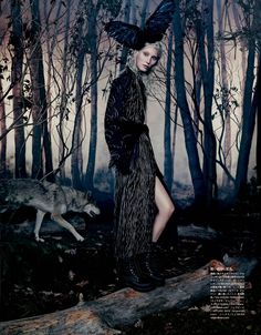 """""""Into the Woods,"""" by Emma Summerton for Vogue Japan October 2014"""