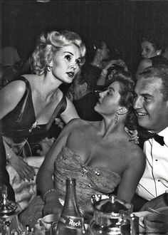 Zsa Zsa Gabor with Esther Williams and Ben Gage, 1950.  by Murray Garrett.  >>> Belljarsf.com <<<< Gorgeous Little Things http://pinterest.com/pin/115123334197108460/repin/