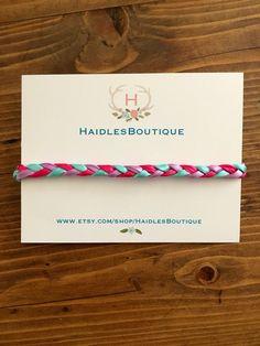 Braided Baby headband, baby headband, pink/green/ivory braid, elastic, Toddler, braided ribbon by HaidlesBoutique on Etsy https://www.etsy.com/listing/244404176/braided-baby-headband-baby-headband