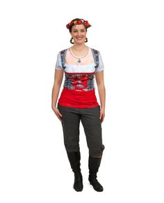 Oktoberfest Costume Dirndl Realistic Faux Red Shirt Source by oktoberfesthaus Realistic Costumes, German Costume, Oktoberfest Costume, Costume Shirts, Lederhosen, Red Shirt, 3 D, Print Design, What To Wear