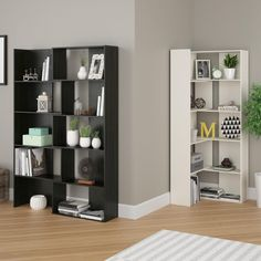 $ 179.99 The Transform Expandable Bookcase can be made larger or into a corner bookcase to better meet your storage and space needs. With classy white stipple or midnight onyx finish that will bring beauty to your room as well.