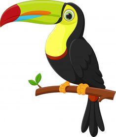 Dibujos animados lindo pájaro tucán Vector Premium Painting Tutorial, Cartoon Birds, Art Painting, Animal Drawings, Art Drawings, Drawings, Art, Bird Drawings, Cute Animal Drawings