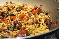 Yakisoba Vegetariano | Blog Figos & Funghis