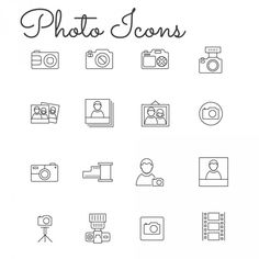 16 Free Thin Linear Vector Photo Icons
