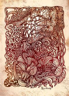 Ink work by Irina Vinnik.