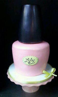 Cute Nail Polish Cake