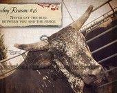 cowboy reason painting | Cowboy Reason 6 - The Bull 11x14 Art Print