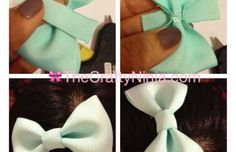 DIY Ribbon Bow Step 4  So making this for Easter!