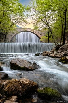 Photograph Palaiokaria falls by Ilias T. Beautiful World, Beautiful Places, Places To Travel, Places To Go, Vida Natural, Beautiful Pictures, Pretty Pictures, Take Better Photos, Beautiful Waterfalls