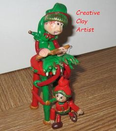 Hand sculpted polymer clay figure entitled The Marionette