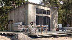 Arkitektritat attefallshus från K-rauta | Attefallshus