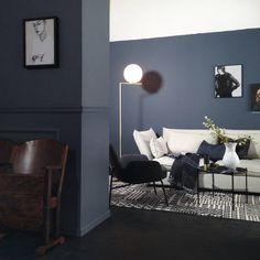 Se dette Instagram-bildet fra @ maxbo_stormarked_vaekero • 124 likerklikk Living Room Inspiration, Interior Inspiration, Colour Architecture, Deco Blue, Living Room Colors, Living Room Kitchen, Wall Colors, Bedroom Decor, New Homes
