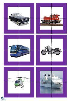 School Posters, Language Development, English Vocabulary, Teaching Kids, Montessori, Transportation, Kindergarten, Homeschool, Puzzle