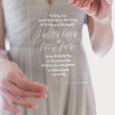 Acrylic invitation by Lovely Paper Things via Green Wedding Shoes / Jen (@greenweddingshoes) • Instagram photos and videos