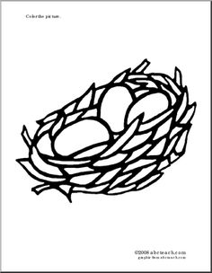1000 images about bird nest unit study on pinterest for Nest coloring page
