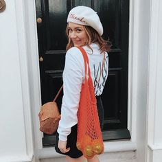 Just me and my bag of fruit I had the best time with my @rocknrosegirls this weekend I discovered these gals when I first started blogging 8 years ago and have loved em ever since. It was a dream come true to be part of their latest launch! Ive shared more snaps on my story!