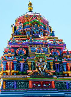 earth-songs:  Colorful Hindu Temple (by Stanley Zimny)  wow, so much color.
