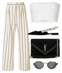 Sin título #4282 by camilae97 on Polyvore featuring Erika Cavallini Semi-Couture, Pièce d'Anarchive, Yves Saint Laurent and Blyszak